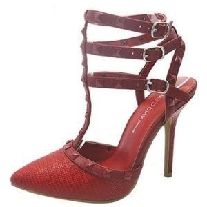 Red studded high heel
